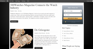 300Watches Magazine is your Connection to the Watch Industry.