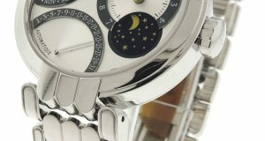 Harry Winston Excenter 18K Gold Retrograde Perpetual Calendar Watch