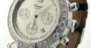 Chopard Imperiale 18K White Gold & Diamond Chronograph Watch