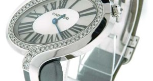 Cartier Delices 18K White Gold Diamond Watch