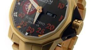 Corum Porto Cervo Marine Admiral's Cup 18K Rose Gold Automatic Watch