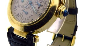 Pasha de Cartier Perpetual Calendar Moon Phase Gold Watch