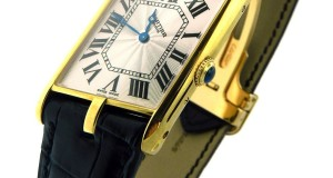 Cartier Diagonal Gold Mechanical Watch