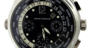 Girard Perregaux GP World Time Platinum Automatic Chronograph Watch