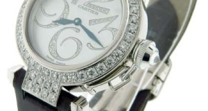 Cartier Pasha 18K White Gold Diamond Watch