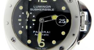 Panerai PAM 64 C Luminor Submersible Diver's Professional Steel Watch