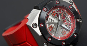 Linde Werdelin Oktopus II Double Date Titanium Red Watch