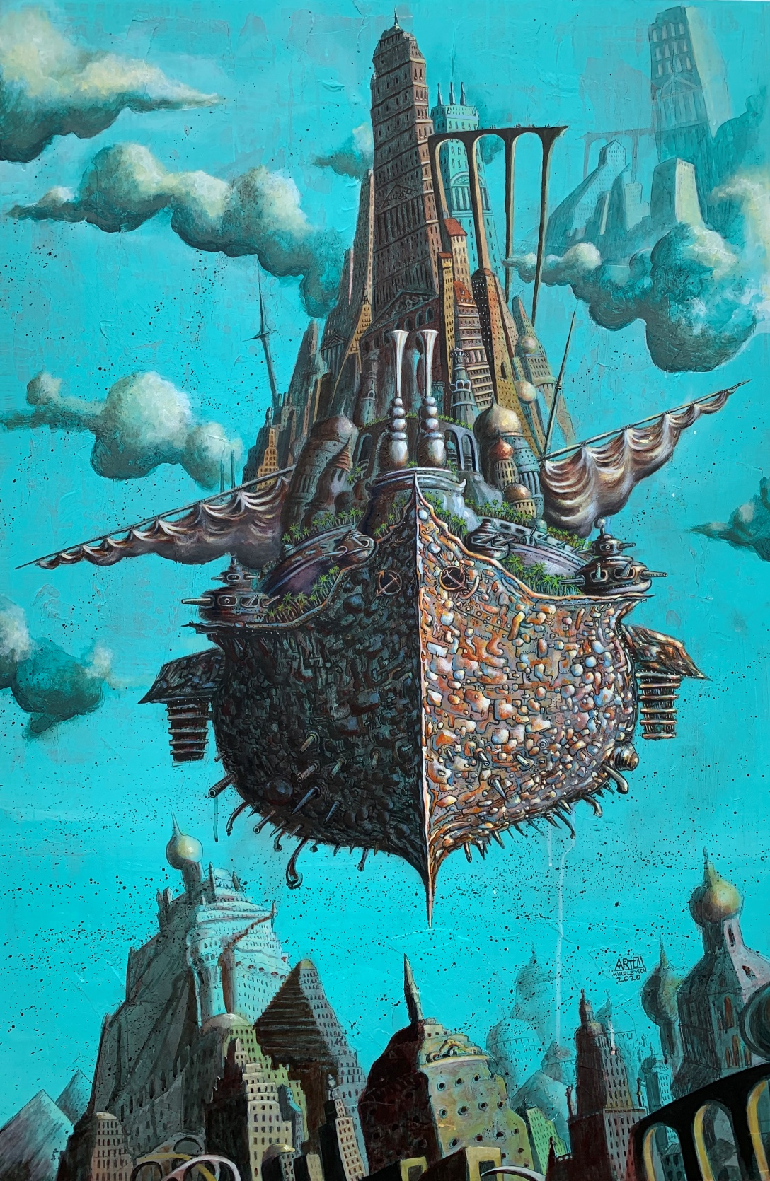 """""""Mothership"""" — A Fascinating Art Exhibition by Artem Mirolevich"""