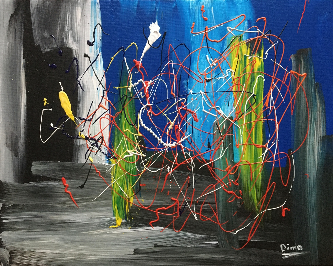 Abstract Drip Paintings by the Ukrainian Artist Dmytro Panchenko