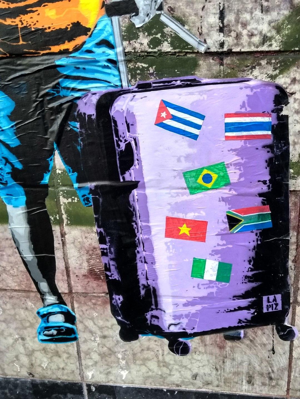 Reisefieber: LAPIZ's New Street Artwork That Raises Questions