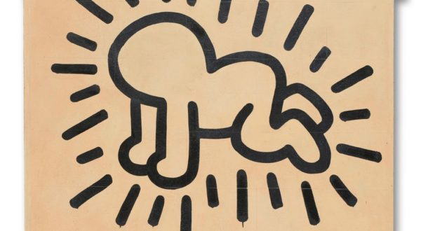 Grace House Mural: Energetic and Vibrant Pop Art by Keith Haring