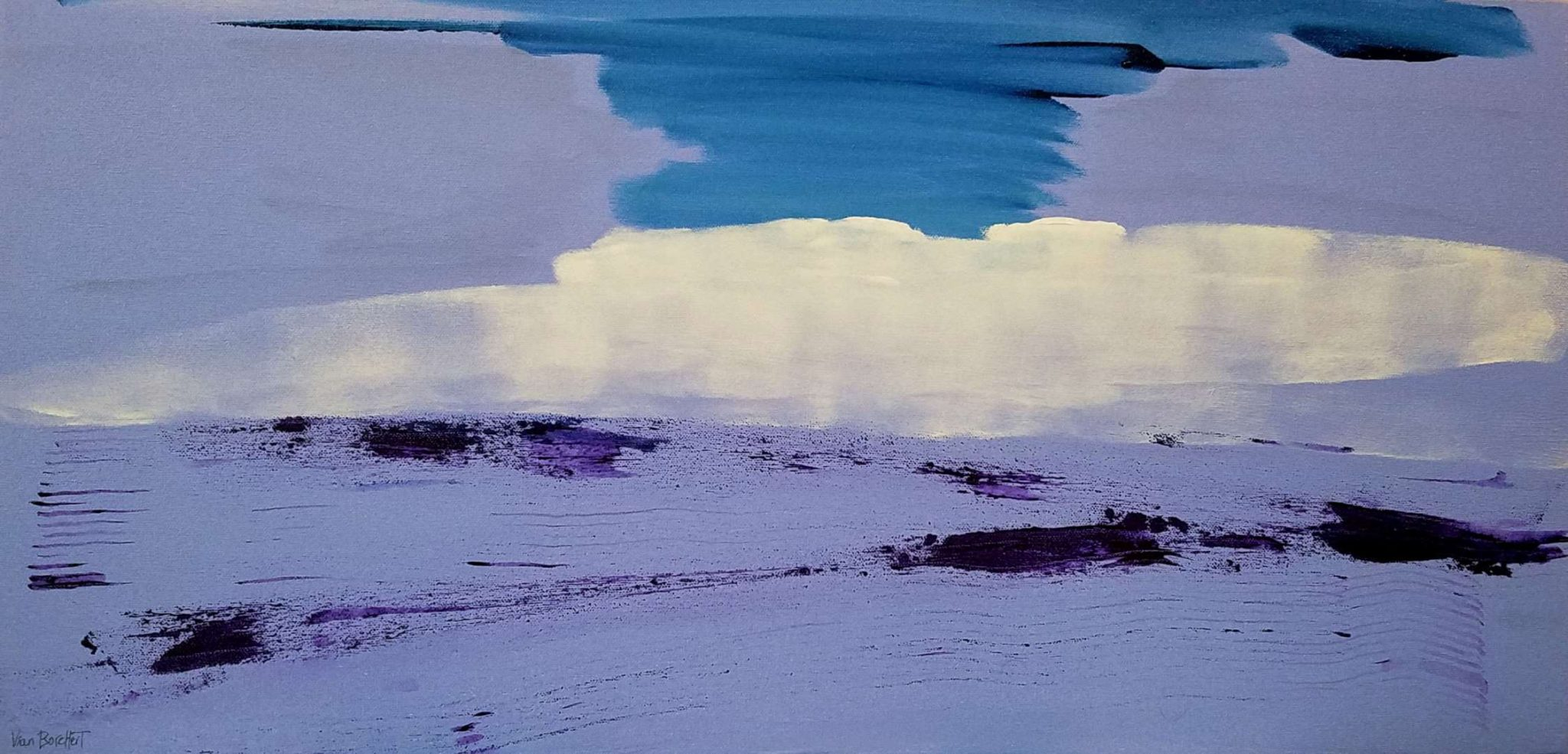Lavender-Inspired Acrylic Paintings by Vian Borchert