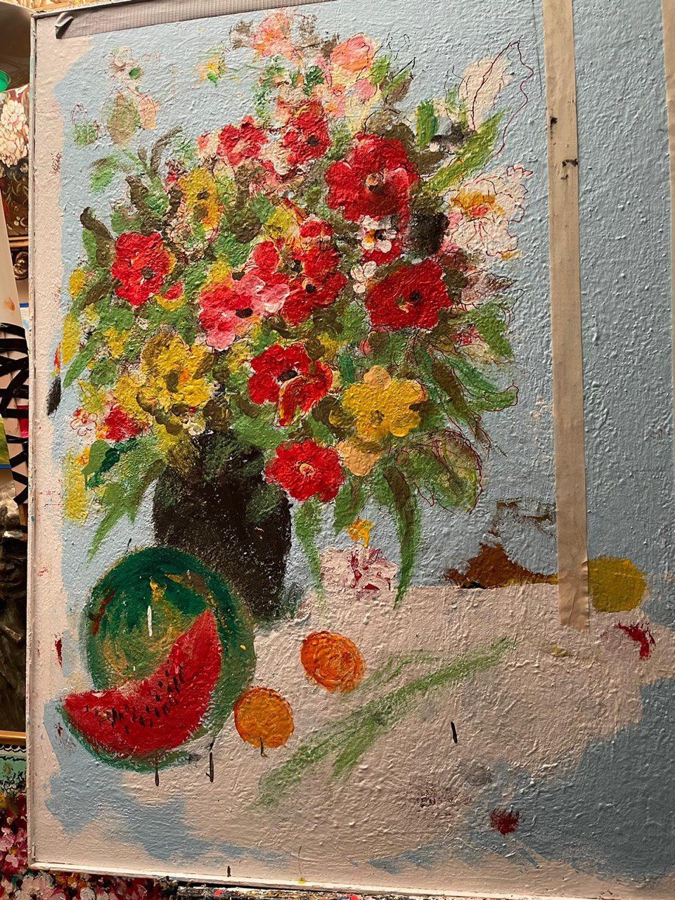 Mikhail Zvyagin Creates a New Painting to Celebrate His 90th Birthday